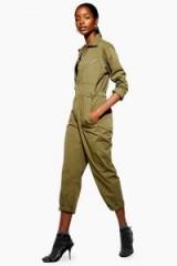 Top Shop Khaki Utility Boilersuit | utilitarian boiler suits