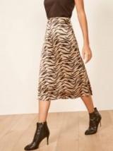 REFORMATION Violetta Skirt in Rajah ~ silky luxe skirts