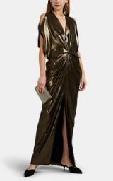 ZERO + MARIA CORNEJO Miu Metallic Gown in vintage gold – glamorous occasion wear
