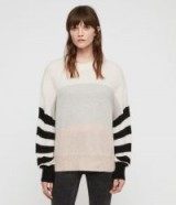 ALLSAINTS NICOLI JUMPER multi stripe – cosy drop shoulder sweater