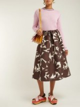 MARNI Avery brown floral-print midi skirt ~ retro prints
