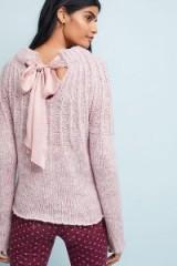 MOTH Bow-Backed Jumper in Lavender | chunky feminine knitwear