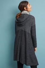 Saturday/Sunday Loviisa Textured Cardigan in dark grey | longline hooded cardi