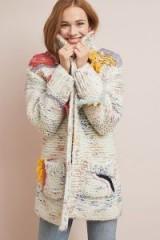 Sleeping On Snow Arietta Fringed Cardigan in Cream | chunky textured cardi