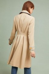 ett:twa Jayda Trench Coat in Sand | gathered back coats
