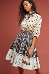 Corey Lynn Calter Winter Fox Skirt in Ivory | graphic print skirts