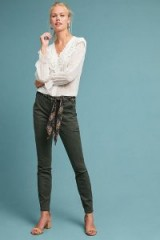 Anthropologie Jefferson Slim Utility Trousers in Holly | green pants