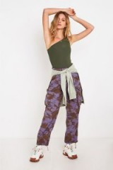 Urban Renewal Remade Lilac Overdyed Camo Trousers in purple Multi