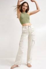 UO Ecru Skate Jeans – cream/neutral denim