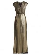 MAX MARA Bacio gold lamé dress ~ metallic event wear ~ glamour