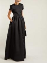 ROCHAS Black duchess satin gown ~ effortless event elegance