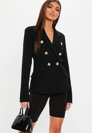MISSGUIDED black military blazer ~ chic jacket