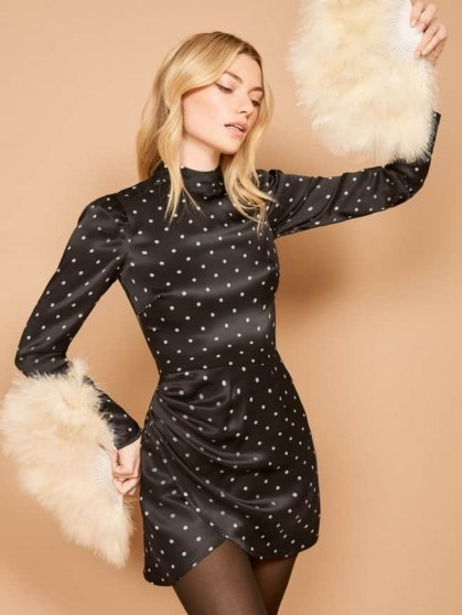 REFORMATION Blanch Dress Pica – polka dot dresses - flipped