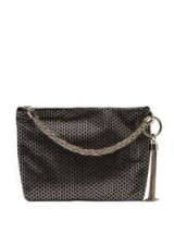 JIMMY CHOO Callie black crystal embellished bag ~ luxe evening accessory