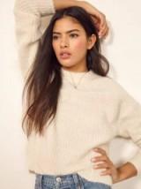 Reformation Finn Sweater in Ivory | luxe alpaca wool jumper | ethically sourced knitwear