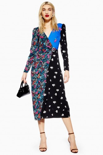 TOPSHOP Grand Estate Mix Midi Dress / floral dresses
