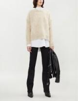 HELMUT LANG Brushed mohair-blend jumper in Beige Melange ~ luxe knitwear
