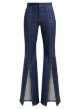 CHLOÉ High-rise open-leg flared jeans – front splits – vintage style denim