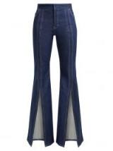 CHLOÉ High-rise open-leg flared jeans – front splits – vintage style denim