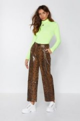 NASTY GAL Hiss Independent Snake Pants – shiny trousers