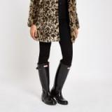 Hunter black tall gloss wellington boots – shiny wellies