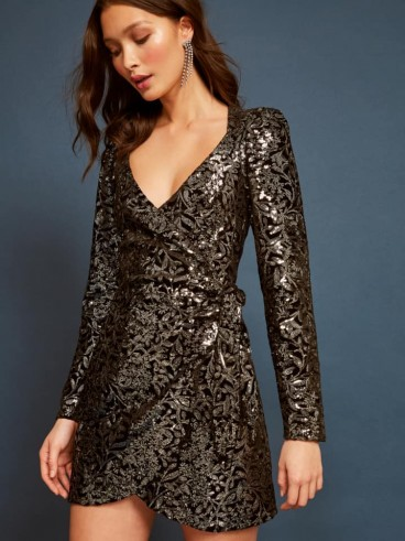Reformation Ivy Dress in Avalon | sequinned party dresses