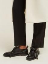 JIL SANDER Knot-front leather loafers black – weekend flats
