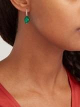 JADE JAGGER 18kt gold, emerald & diamond drop earrings ~ fine green gemstone jewellery
