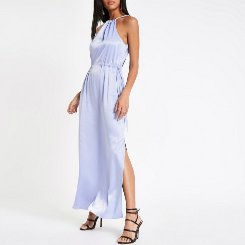 River Island Light blue trapeze maxi dress – long slinky party dresses