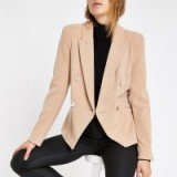RIVER ISLAND Light brown double breasted blazer – smart jackets
