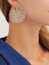 VALENTINO Logo-embellished circle earrings