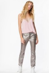 ZADIG & VOLTAIRE LONDON METAL PANTS ~ metallic leather trousers