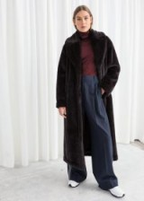& other stories Long Faux Fur Coat – brown / longline winter coats