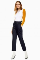 Topshop Luxe Joggers in navy-blue | sports fashion