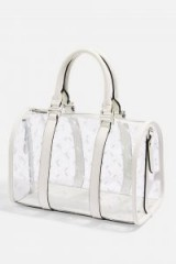 Topshop Madrid Medium PU Bowler Bag | clear top handle bags