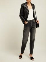 SAINT LAURENT Mid-rise black cotton boyfriend jeans