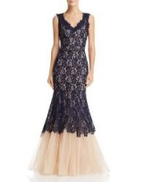 Nha Khanh Lace & Tulle Gown in Navy ~ feminine event gowns