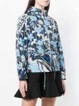 PRADA floral print windbreaker jacket in turchese ~ casual blue designer jackets