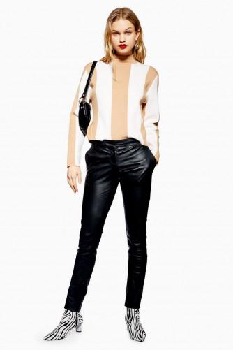 TOPSHOP Premium Black Leather Trousers