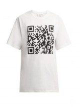 VETEMENTS QR code cotton T-shirt white – printed weekend tee