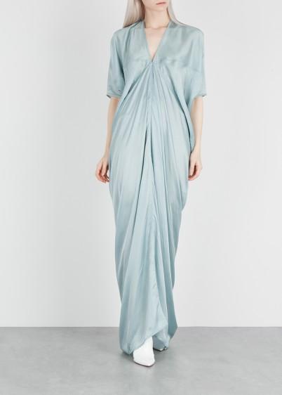 RICK OWENS Kite light blue washed satin gown / elegant evening wear