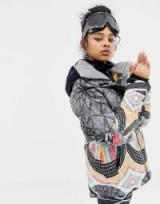 Roxy Frozen Flow Jacket in Multi Print   warms and stylish winter jackets