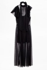 Zadig & Voltaire RULLE MESH DRESS in black tulle ~ party glamour