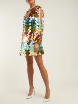 SARA BATTAGLIA Multicoloured Sequin mini dress ~ vintage style glamour