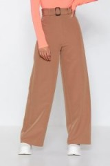 NASTY GAL Set Your Mind At Ease Wide-Leg Pants in Camel – shades of brown