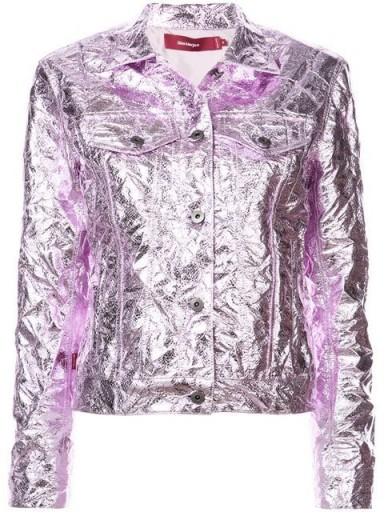 SIES MARJAN pink metallic shirt jacket