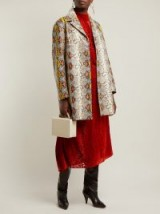 ROCHAS Single-breasted python-effect leather coat ~ luxe statement coats