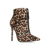CARVELA SPECIOUS Leopard Print Ankle Boots in TAN