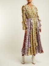 VALENTINO Spring Garden-print silk crepe de Chine midi dress ~ boho luxe
