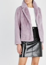 STAND Mariska lavender faux fur jacket ~ luxe lilac jackets